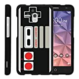 MINITURTLE Case Compatible with [Alcatel One Touch Fierce XL Case][Snap Shell] Hard Plastic Slim Fitted Snap on case with Unique Designs - Game Controller