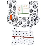 ONE Epic Solution Drool and Teething Pad with Reversible Organic Cotton Bibs Set,Extra Pocket, Bandana Bib Bonus