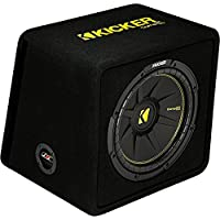 Kicker 12-Inch 600 Watt 2 Ohm Vented Loaded Subwoofer Enclosure, 44VCWC122