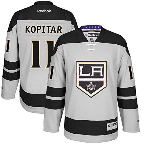 NHL Los Angeles Kings 11 Anze Kopitar Men's Premier Jersey Gray color Size XXL