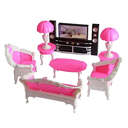 Remarkable Amazon Com Potato001 Diy Kids Girl Play House Doll Sofa Tv Caraccident5 Cool Chair Designs And Ideas Caraccident5Info