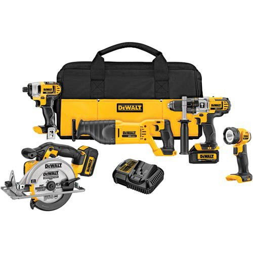 Dewalt DCK590L2R 20V MAX 3.0 Ah Cordless Lithium-Ion 5-Tool Combo Kit (Certified Refurbished)