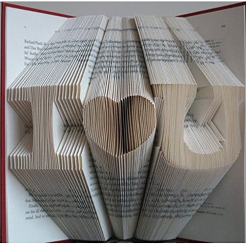 Folded Book Art - Fathers day gifts - Wedding gifts - Anniversary Gift - Birthday gift - unique birthday gifts - Gifts for mom - Gifts for dad - Personalized -