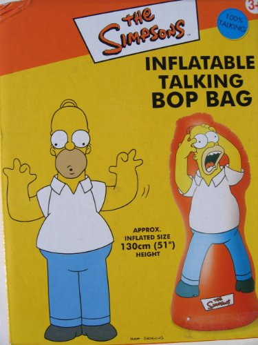 HOMER SIMPSONS INFLATABLE TALKING BOP BAG 51'' TALL by The Simpsons Homer Simpsons