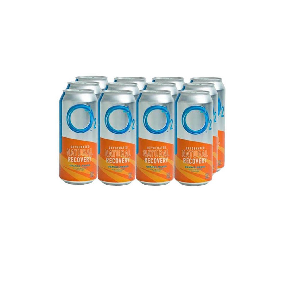 O2 Natural Recovery Drink – Orange Mango – 12 Pack