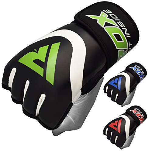 RDX Hand Wraps Boxing Inner Gel Gloves under MMA Fist knuckle Protector Muay Thai Fist Bandages Maya Hide leather Padded (Leather Wrist Wrap Boxing Gloves)