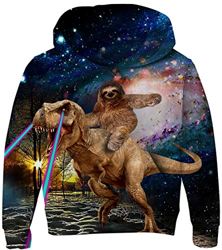 UNICOMIDEA Boys Pullover Funny Sweater Comfortable Sweatshirt Novelty 3D Pattern Hooded Party Wear with Plush Lining 11-14T]()
