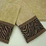 Pacific Coast SK52-283296 Sherry Kline Zebra 3-piece Decorative Towel