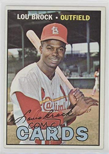 Lou Card Brock Baseball (Lou Brock (Baseball Card) 1967 Topps - [Base] #285)