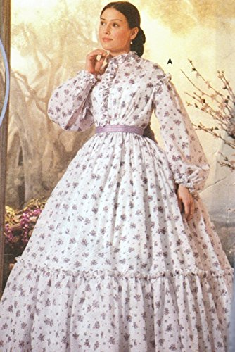 Amazon.com: Simplicity 5442 Sewing Pattern Civil War Wedding Dress ...