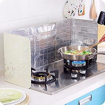 Bureze - Protector antisalpicaduras para cocinar sartenes de aceite, protector de salpicaduras para el hogar, utensilios de cocina, herramienta: Amazon.es: ...