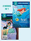 img - for Ariel Is Fearless/Jasmine Is Helpful (Disney Princess) (Step into Reading) book / textbook / text book
