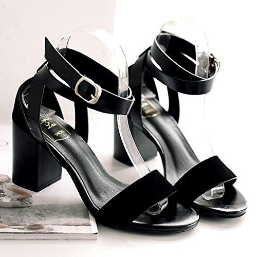 Sandali Strappy Classico Zanpa Black Donna q7XRH8