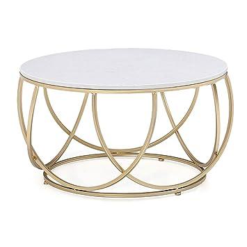 Csq Wohnzimmer Couchtisch Marmor Eisen Kunst Sofa Tisch Gold Runde