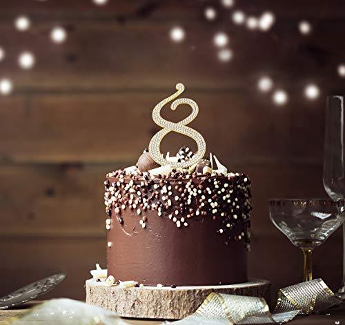 9ef7196cdc43 Jual Sparkly Rhinestones Number 8 Cake Topper