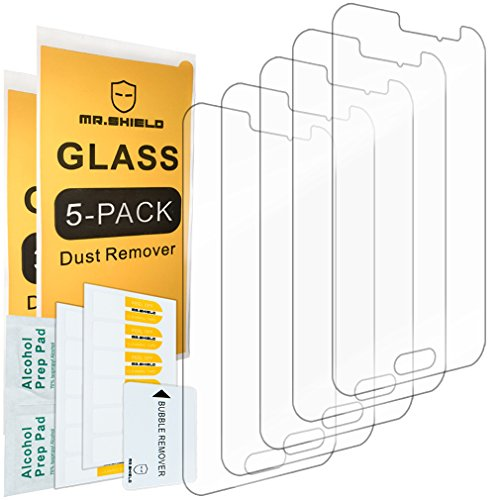 Cheap Screen Protectors [5-PACK]-Mr Shield For Samsung Galaxy Luna [Tempered Glass] Screen Protector with Lifetime..