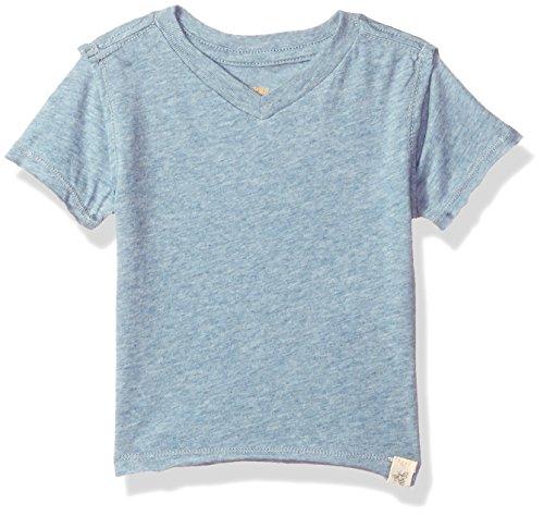 Burt's Bees Baby Baby Infant Organic Short Sleeve Reverse Seam High V Tee Shirt, Twilight Heather, 12 (Day Organic Baby T-shirt)