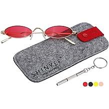 Vintage Slender Oval Super Small Sunglasses Sexy Retro Round Tiny for Women Men Girls