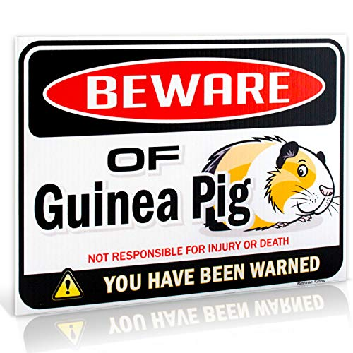 Beware of Guinea Pig Warning Sign | 9