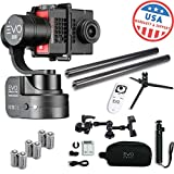 EVO SS Wearable Gimbal Stabilizer for GoPro Hero4 to Hero6 Black and More - 1 Year USA Warranty | Bundle Includes: Extra Batteries + Remote + Tripod Stand + Poles + Smartphone Mount