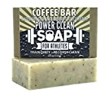 coffee bar soap - Organic Coffee Bar Exfoliating Soap for Athletes with Essential Oils of Lemon, Lavendin, Orange, and Patchouli plus Organic Ground Coffee. For All Skin Types. Non GMO, SLS Free 4 oz Bar