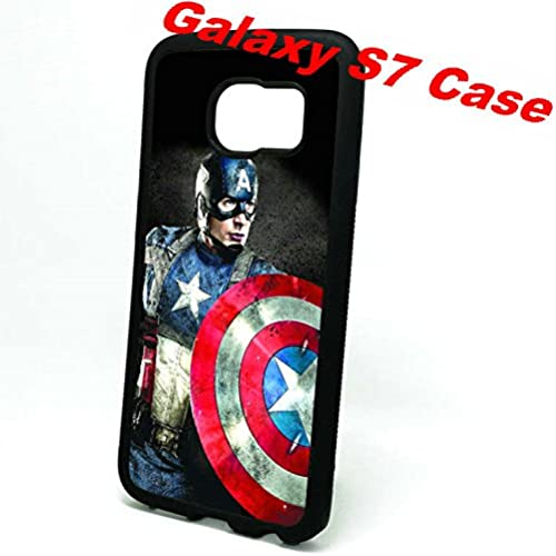 Designer Samsung Galaxy S7 Captain America Protective Case,Durable Soft Rubber Back Cover with Ultra-thin Golden Sales
