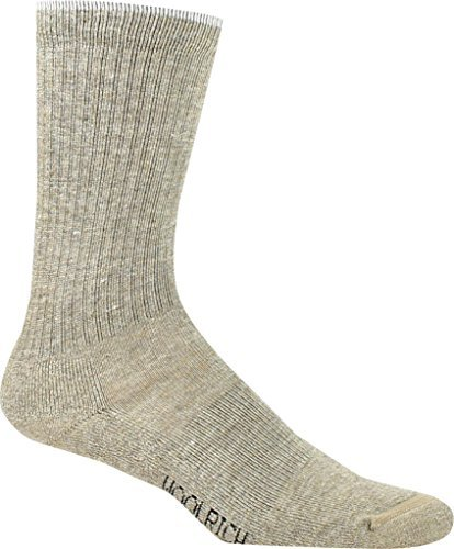 (Woolrich Women's Tipped Solid Novelty Sock,Khaki,US M)