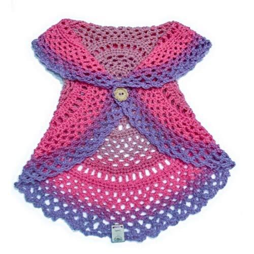 Amazoncom Toddler Boho Crochet Circular Vest For Girls Handmade