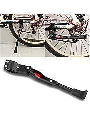 Mopalwin Fahrradständer, Fahrrad Seitenständer Ständer Einstellbarer Universal Aluminiunlegierung mit Anti-Rutsch Gummifuß für Mountainbike, Rennrad, Fahrräder(22-28 Zoll/Schwarze)