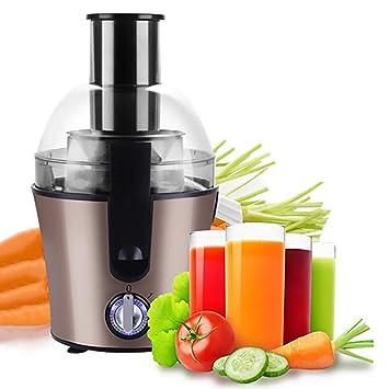 Lndixy Exprimidor máquina de Jugo de Frutas Enteras 3 Ajuste de Velocidad centrifugador de Potencia centrífuga, exprimidor Lento, Masticador de Fruta ...