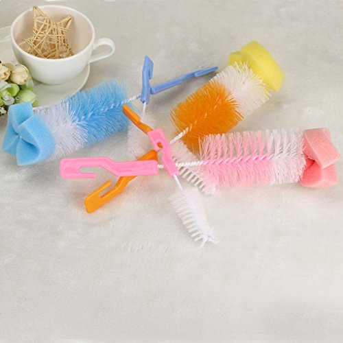 random DZT1968 2pc Baby Bottle Heat-resistant Brush Cleaner Spout Cup Glass Teapot Washing Tool Brush by DZT1968 (Image #1)