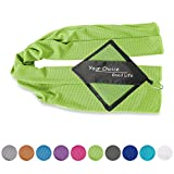 Your Choice Cooling Towel Snap Cool Towels for Sports Gym Golf. Use as Cooling Neck Wrap, Scarfs and Bandanas. Ice in Hot Summer, Green 12x40 Inch