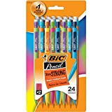 BIC Xtra-Strong Mechanical Pencil, Colorful Barrel, Thick Point (0.9mm), 24-Count (MPLWP241)