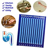 Meflying Magic Sticks Drain Cleaner and Deodorizer Odor Remover, Flow Drain Strips for Bathroom & Kitchen Odor Remover Sticks 12/24/36/60 PCS (12 pcs)