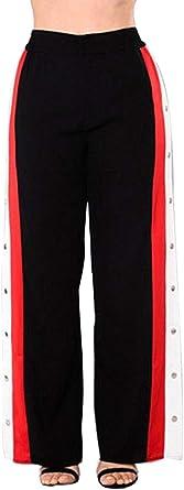 Pantalones de Culotte Recortado de Pierna Ancha para Mujer ...