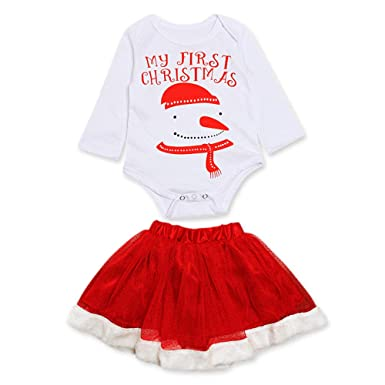 190c1808b Mounter 2018 Newborn Infant Baby Girls Xmas Snowman  Merry Christmas ...