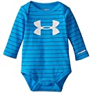 Under Armour Baby-Boys Newborn Big Logo Printed Bodysuit, Blue Jet, 6-9 Months