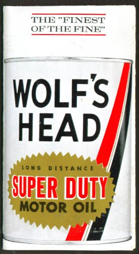 Wolf's Head Super Duty Motor Oil folder 1960s