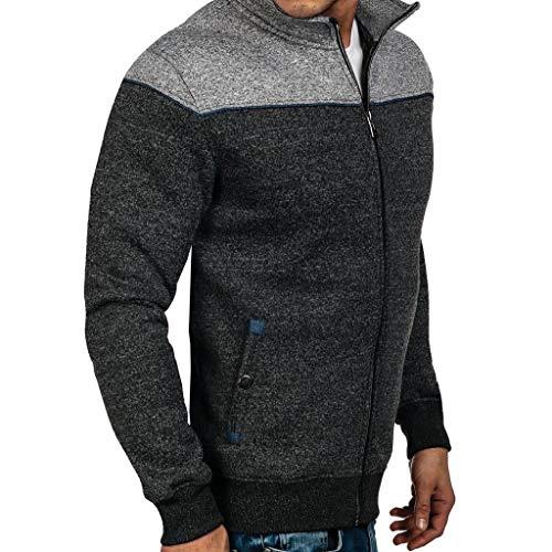 Forthery Men's Full-Zip Fleece Hoodie Lightweight Sweatshirt Tops Shirts Newest