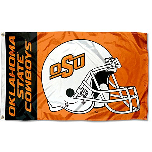 OSU Cowboys College Football Helmet Flag