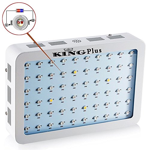 51u9TUSb00L - King Plus 600w/800w/1000w Double Chips Led Grow Light Full Specturm for Greenhouse and Indoor Plant Flowering Growing (10w Leds)