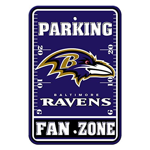 Fremont Die Official National Football League Fan Shop Authentic NFL Parking Sign (Baltimore Ravens)