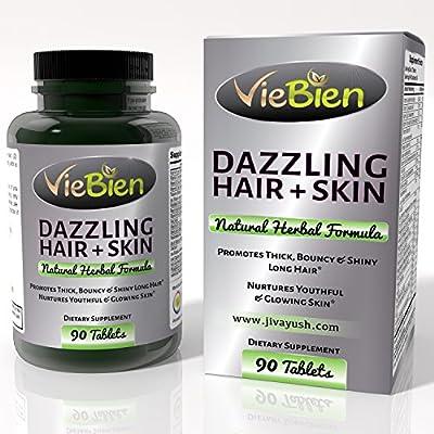 VieBien Dazzling Hair & Skin Supplement - All Natural Vitamins for Hair Growth Healthy Skin
