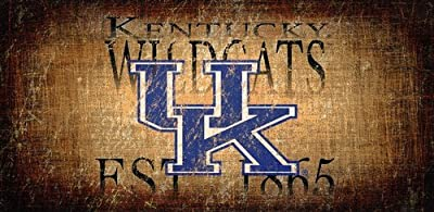 Fan Creations University of Kentucky Heritage Distressed Established Date 6x12, Multi