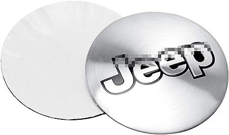4 Pezzi//Set Nero 56mm JTAccord Car Wheel Hub Hub Caps Emblem Badge Sticker per Jeep Wrangler Patriot Grand Cherokee Compass Liberty Styling