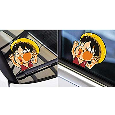 Elibeauty One Piece Car Sticker, Japanese Anime Creative 3D Cartoon Funny Car Sticker PVC Removable Decorative Sticker for Wall, Car, MacBook, Music Instruments, Motorcycle, Suitcase( Style 05): Toys & Games