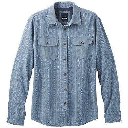 Aspen Sweater (prAna Rennin Woven Shirt, Aspen Blue, X-Large)