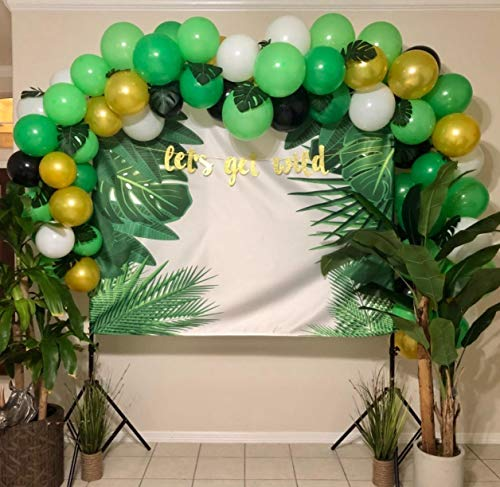 112PCS Jungle Party Balloons Decoration Kit, Safari Baby Shower Animal Party Balloons 16 Feet Balloons Arch for Kids Boys Girls Birthday Decor Zoo Themed Party Supplies]()