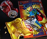 Aberrated Superchip Collectible Limited Edition Reproduction on Canvas of the Original Oil Painting, Signed, Numbered, Certificate of Authenticity: Superman Comic Book, Lays Chips, Coca-Cola Can, Gift