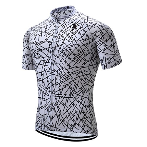 Road Bike Cycling Jersey - Coconut Ropamo Summer Men Cycling Jersey Road Bike Shirt Short Sleeve Breathable 100% Polyester (S,2031)